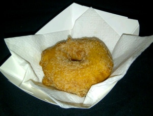 A single apple fritter