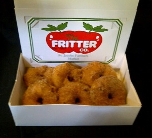 A half dozen apple fritters