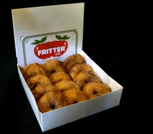 A dozen apple fritters